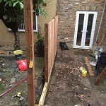 Fencing and paving archway n19 north london 03